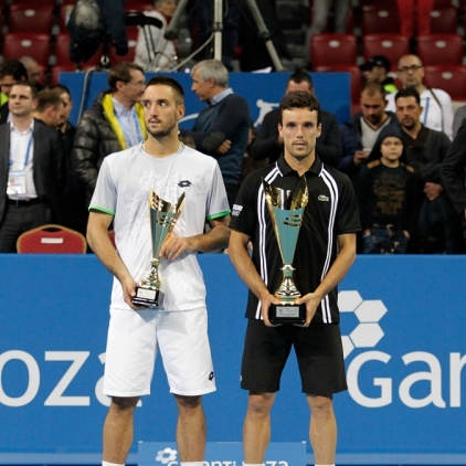 Sofia Open - Slow Motion from Bautista Agut and Viktor Troicki during the singles final