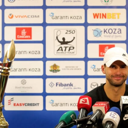 Grigor Dimitrov's champion press conference