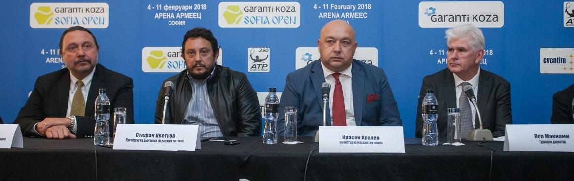 Press conference - Garanti Koza Sofia Open 2018