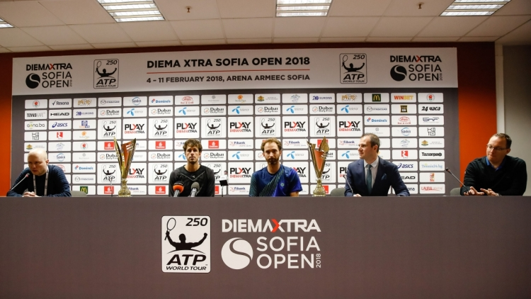 Dobles champions Matwe Middlekoop/Robin Haase's press conference