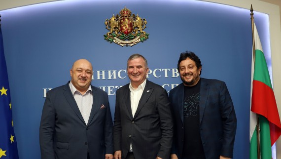 Министър Кралев проведе работна среща с новия директор на тенис турнира Sofia Open Горан Джокович