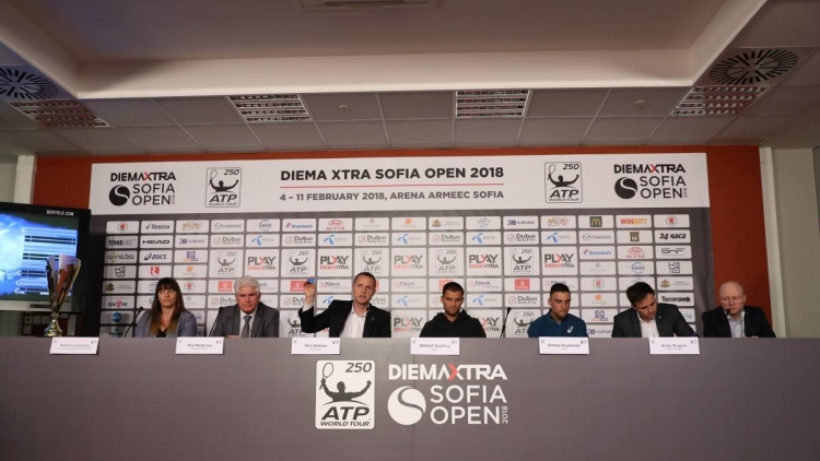 The 2018 DIEMA XTRA Sofia Open draw was made