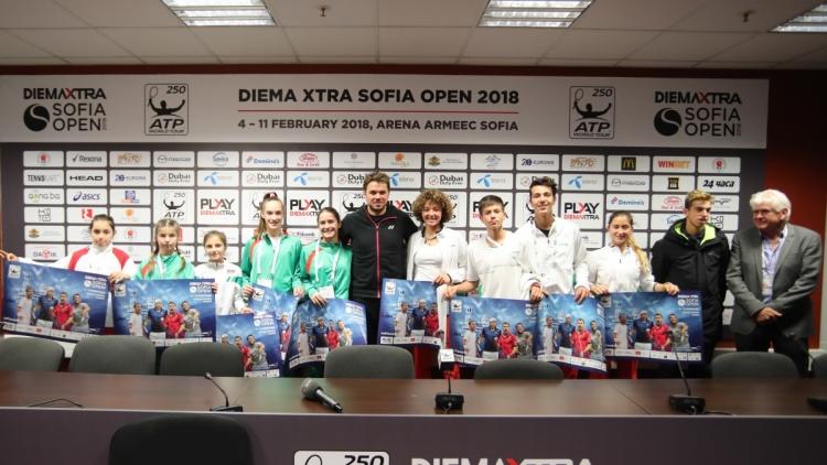 Стан Вавринка се срещна с част от най-добрите български таланти