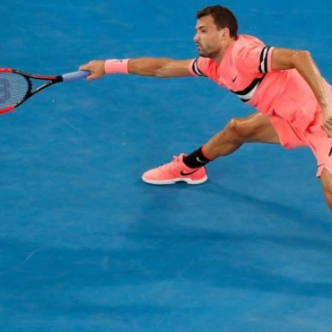 Grigor Dimitrov battles to a four-set victory over Andrey Rublev