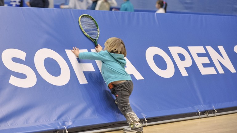 Sofia Open turns to paradise for kids! Free entrance and hundreds games for the youngest tennis fans in Bulgaria