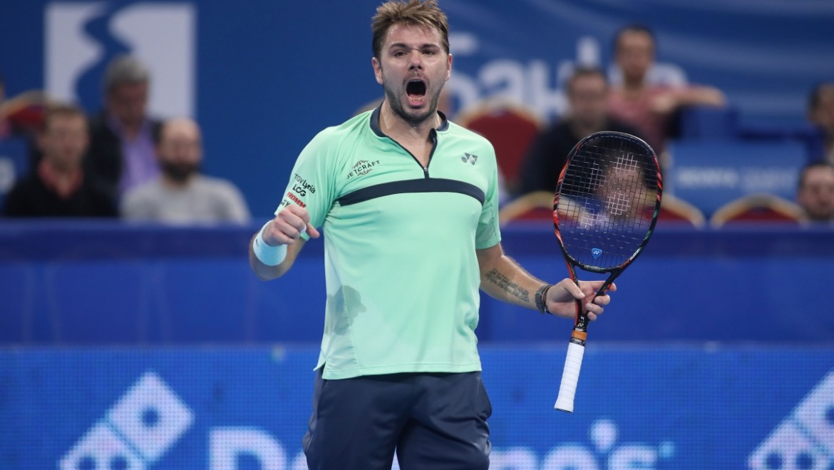 Stan Wawrinka – in action on Monday