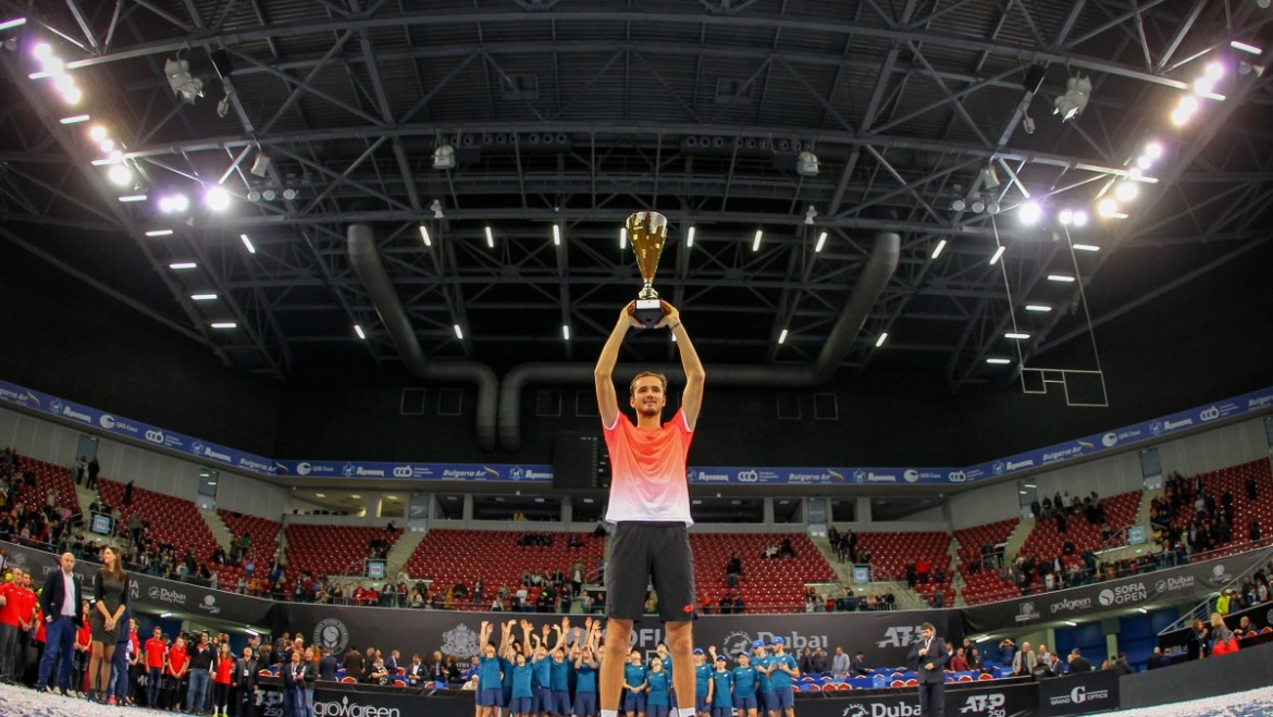Trophy presentation at Sofia Open 2019