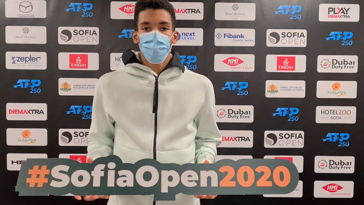 Felix Auger-Aliassime – on the court on Wednesday